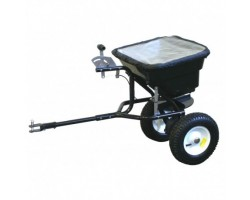 """Fertilizer spreader tow with rubber wheels 10 """", max 45 Kg capacity"""