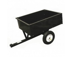 Lawn tractor trailer galvanized / painted black