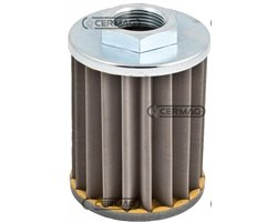 """Suck-Up Oil Filters With Threaded Connector - Filtration 60µ Metal Fabric Filtering Degree 60 µ A 1/2"""" Gas"""