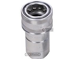 """Quick Female Coupling Ball Type - Iso Interchangeable Series Ns Coupling 1/2"""" Gas"""