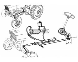 Power Steering Installation Assemblies For Tractors 480Dt, 500Dt, 450Dt - Side Differential