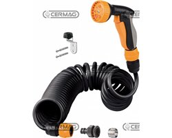 Kit With 10 M Extensible Spiral Hose With Accessories In Blister-Pack