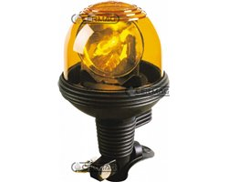 Flexible Rotating Light With Rod Attachment With Unbreakable Polycarbonate Dome