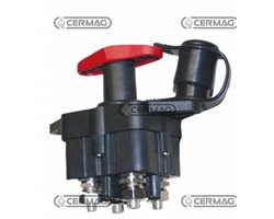 Dual Pole Manual Battery Master Switch With Fixed/Removable Handle, M10 Contacts