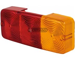 Right And Left Rear Cover (Red-Orange)