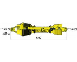 """Homokinetic Pto Shafts With """"Ce"""" Certification"""