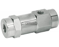 """Single Pilot Operated Check Valve - Line Type Couplings 1/4"""" Gas"""