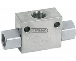 """Shuttle Valve For The Use Of Two Alternating Pumps Flow Rate 45 L/Min Couplings 3/8"""" Gas"""
