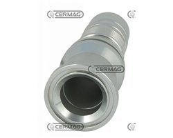 """Straight Flange Joint Sae 3000 Psi Tube Diameter 1"""" 1/4 Inch Flange 1"""" 1/2 Inch"""