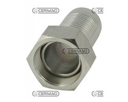 "Straight Female Threaded Fitting Pipe Diameter 1/2"" - 13 Mm Thread 3/8"" Gas"