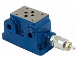 Single Plate For Cetop3 Electro-Valve With Relief Valve