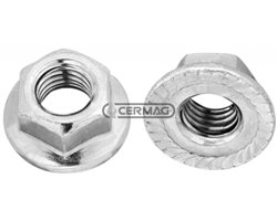 Hex Nut With Knurled Flange D M8