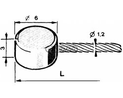 Throttle Cable With Flat End Ø 6X3 Ø 1,6 Mm Length 3000 Mm