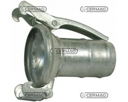 Galvanized Female Half-Coupling With Sleeve For Rubber Hose With 2 Hooks