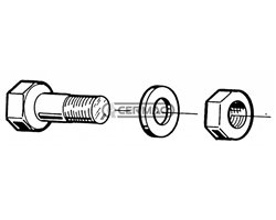 Bolts And Nuts Thread D 1/2 L 37 Mm
