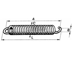 Spring For Cultivator Tine Wire Diameter 10 Mm L 317 Mm