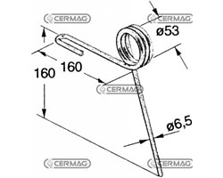 Standard Rear Tine For Seed Drill - Various Manufacturers