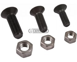 Plough Bolts With Countersunk Recessed Hexagon Heads Classe 10.9 Threading D M12 L 40 Mm