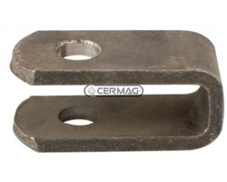 Yokes For Hydraulic Levelling Arms Ø 18 Mm Internal Width 25 Mm Length 80 Mm
