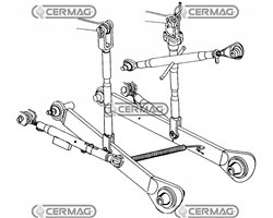 Complete 3-Point Linkage Set - Fiat - Kubota - Iseki