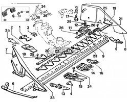 """Spare Parts For Motor Mowers Bcs 600 - 700 Type """"Centrale"""""""