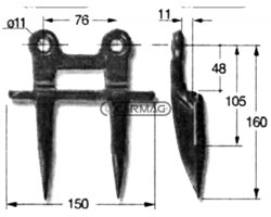 Double End Finger For Italian And Foreign Combine Harvesters (Blade End Side)