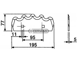Blades For Mixing-Horizontal