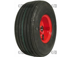 Ribbed Tyred Wheels With Bearings