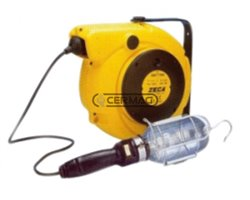 Electric Cord Reel With Lamp Socket
