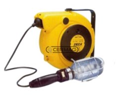 Electric Cord Reel With Transformer And Lamp Socket