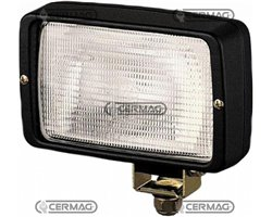 Working Lamp Ff®-H3 With Light Unit For Broad Illumination Of Extended Field, With Slantable Base
