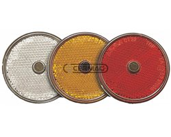 Round Reflectors Diameter 60 Mm Color Red