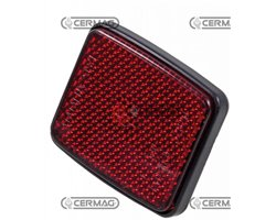 Reflector With Stud Bolt M6 Dimensions 55X45 Mm Color Red