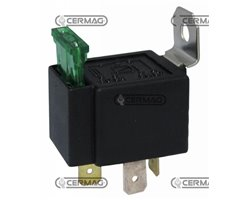 Relay On-Off 12V-30A With Protective Fuse And Fixing Bracket Voltage 12 V Current Intensity 30 A