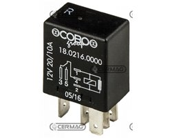 Micro Relay With Exchange On-On 5 Pins 12V – 15/25A With Resistor Voltage 12 V Current Intensity 15/25 A