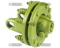 """Disc Friction Type Category 6 Coupling 1"""" 3/8 - Z.6 Discs 2"""