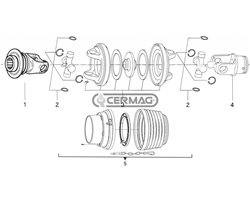 """Central Assembly For """"Walterscheid"""" Type Cv Shafts"""