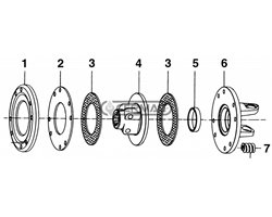 """Hub With Flange 1"""" 3/4 - Z6 - For Clutch Assemblies With 2 Plates Diameter 180 And 200 By-Py/Eurocardan"""