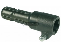 Standard Adapter With Pin In Special 38Ncd4 Hardened And Tempered Steel - Strength 120 Kgm/Mm2