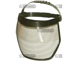 Visor In Polycarbonate And Metal Gauze Non Reflecting