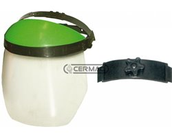 Visor In Non Reflecting Polycarbonate With Protective Top And Adjuster Knob