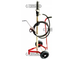 Air Operated Pump For Oil Without Cover - With Carriage And Accessories.