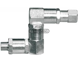 """Coupling With Triple Joint Thread 1/4"""" Gas"""