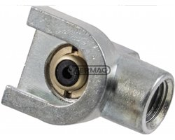 Heads For Lubricators - Package 1 Pcs - Telecalamit Straight Type (10X1 Thread)