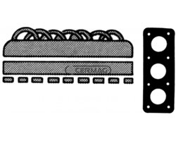 Set Of Top-End Gaskets With Cylinder Head Gasket For One Single Cylinder