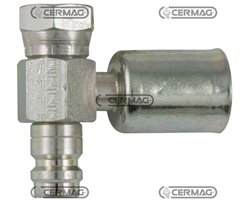 90° Female Fitting With: O-Ring And High And Low Pressure Valve For R134