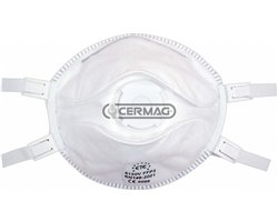 Facial Filter Masks With Valve For Toxic Dusts, Fibers And Fumes Protection Class Ffp3